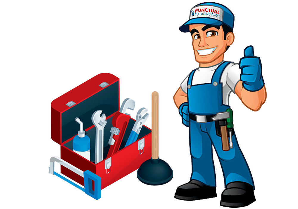 Punctual Plumber Pros Services Plumber with Toolbox